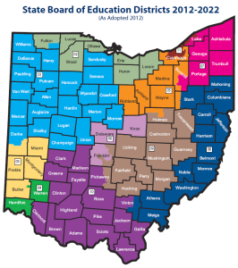 Ohio Board of Education Districts 2012-2022