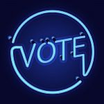 neon-light-with-vote-word-100100266